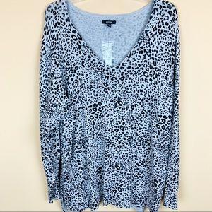 Apt 9 leopard sweater animal print cheetah